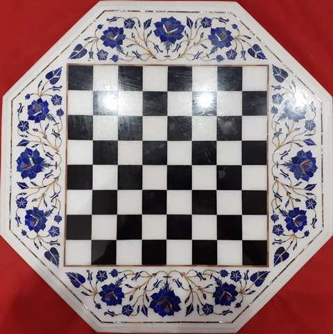 Marble Playing Chess tabletop