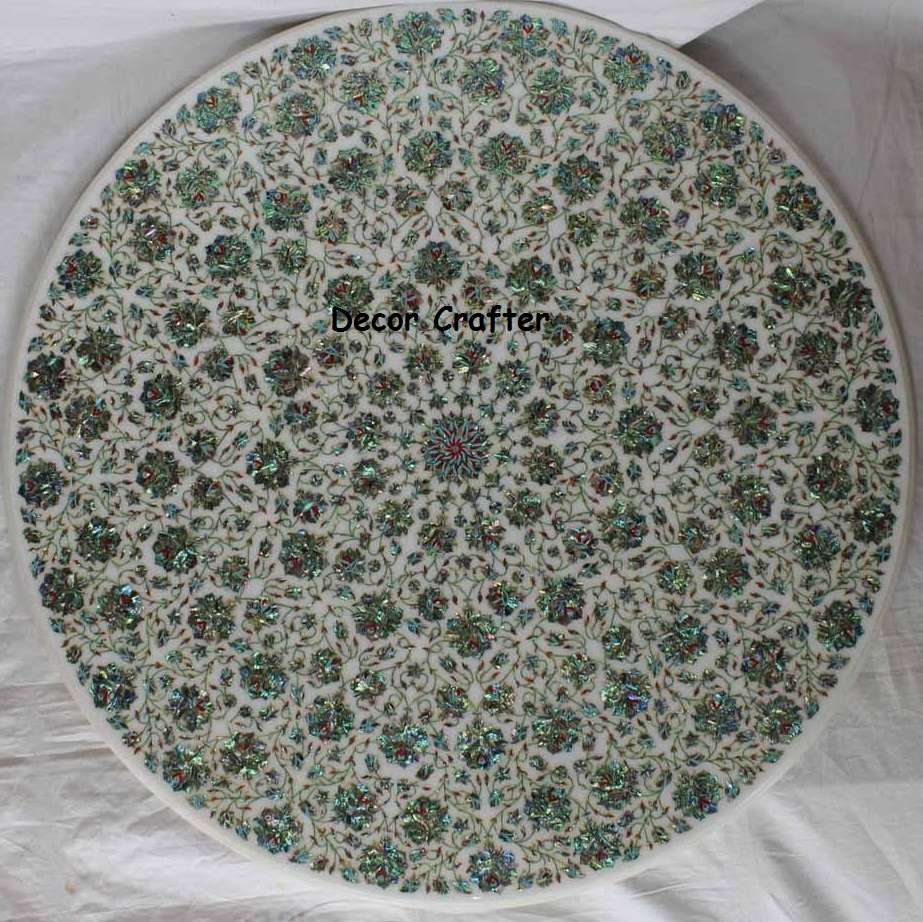 Round Antique Deasign Marble Inlay Table