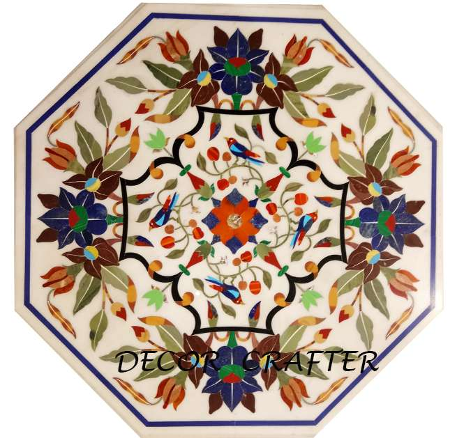 Marble Inlaid Table Tops Having Mosaic Work