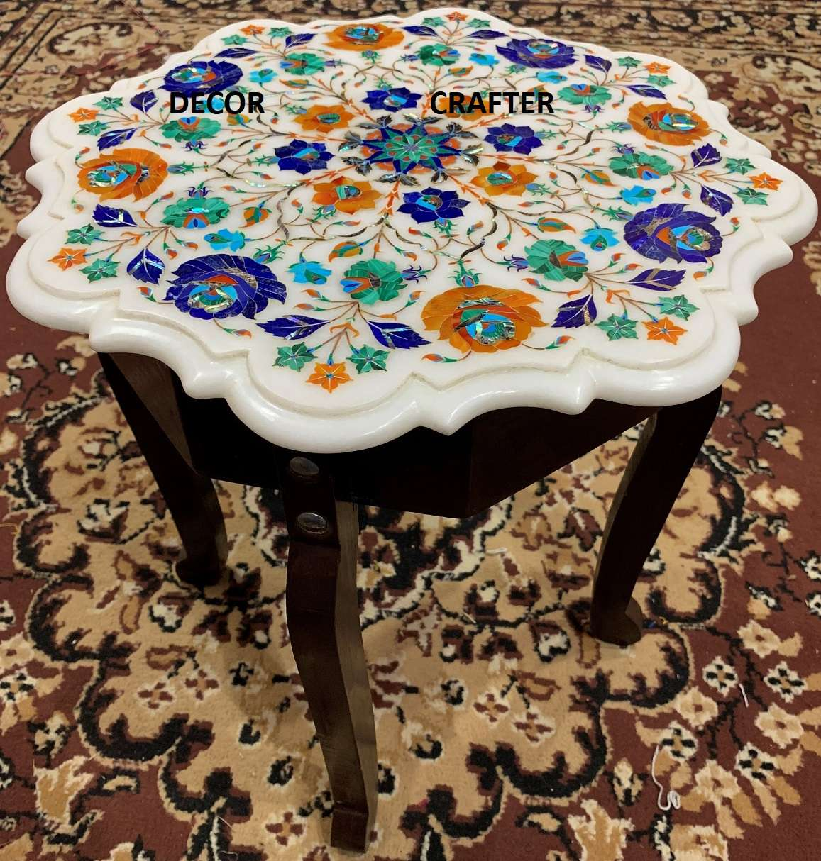 Octagonal Design Marble Patio Table