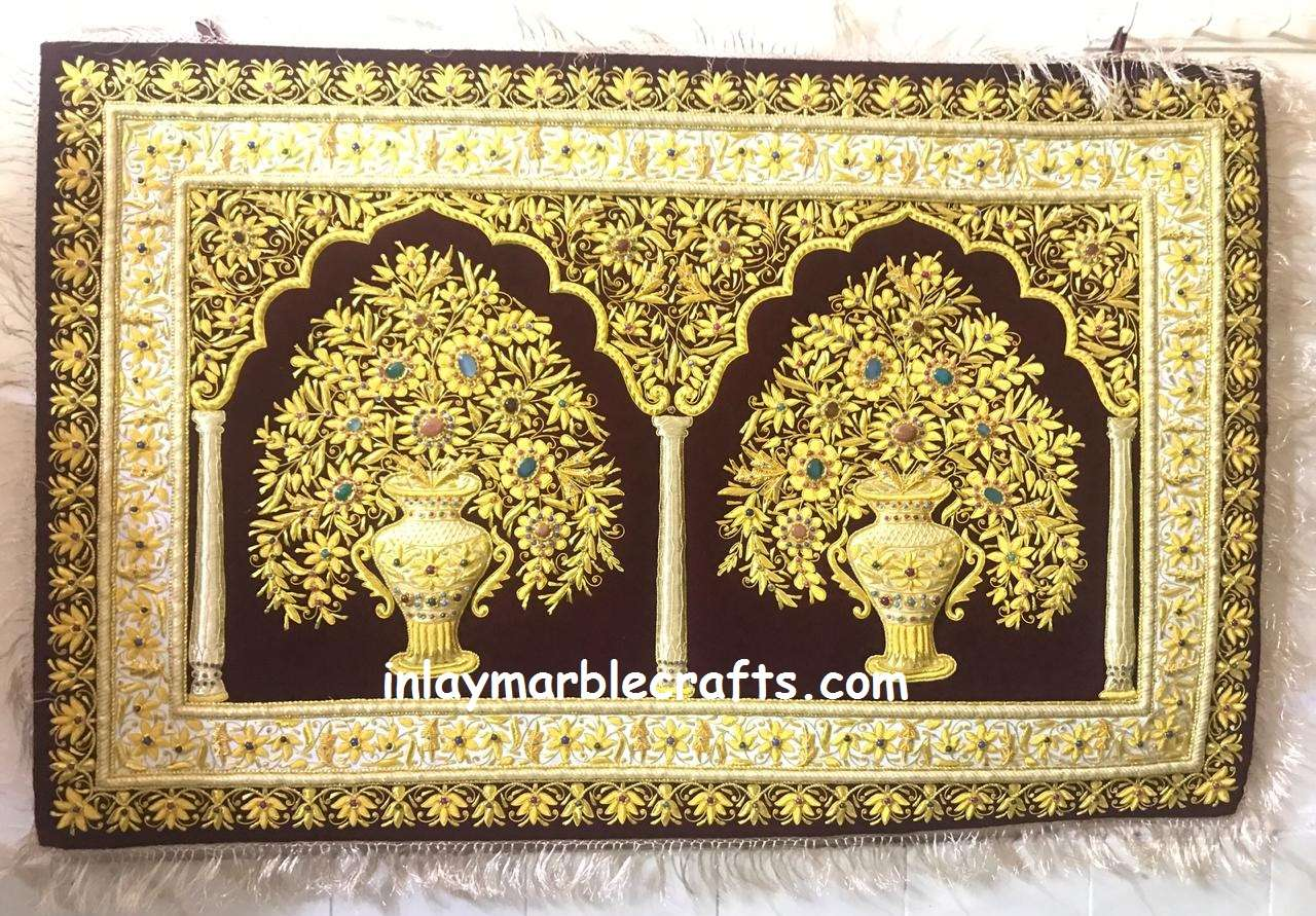 Jewel Embroidery Exclusive Work Wall Hanging Carpet