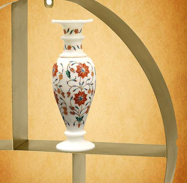 Marble Inlay Vases Having Beautiful Parchinkari