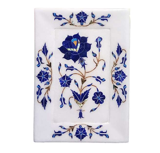 Marble Inlay Decorative Pietra Dura Work Trays
