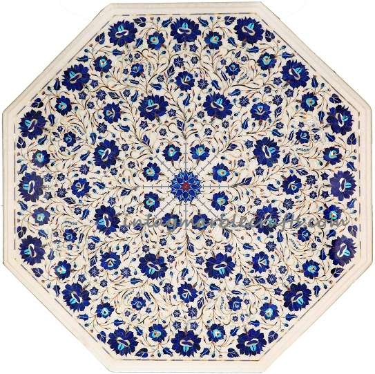 Marble Pietra Dura Dining Tabletop