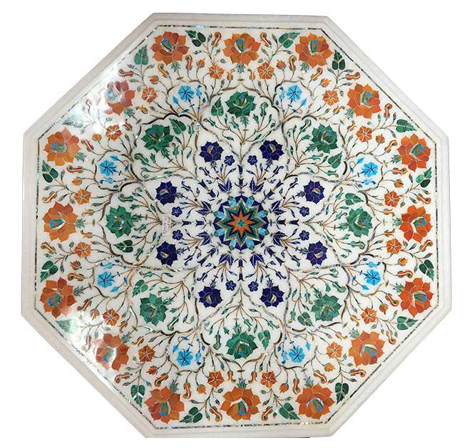 Marble Inlay Multicolour Beautiful Inlaid Table Tops