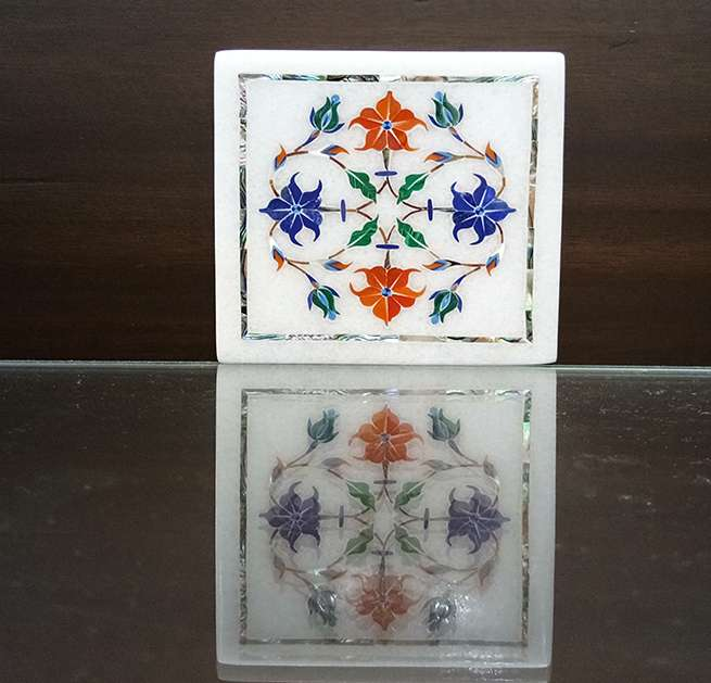 Marble Inlay Tile Having Beautiful Parchinkari