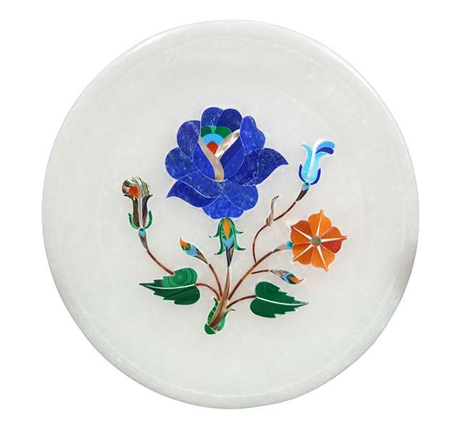 Multicolour Beautiful Marble Inlaid Decorative Plates