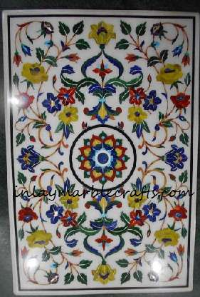 Marble Inlay Pietra dura Imarti Work Tabletop