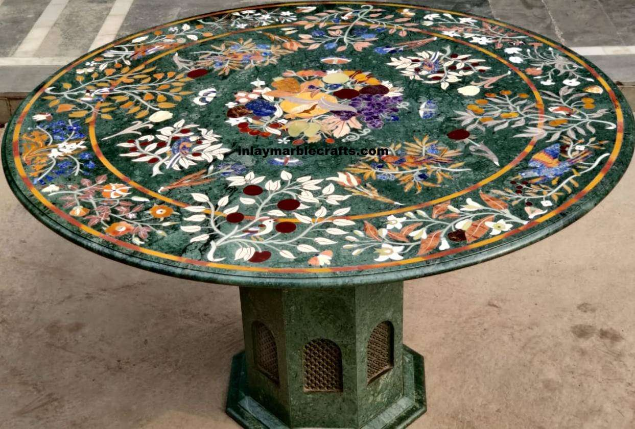 Marble Inlay Italian Design Tabletop, Marble Coffee Table, Marble Dining Table