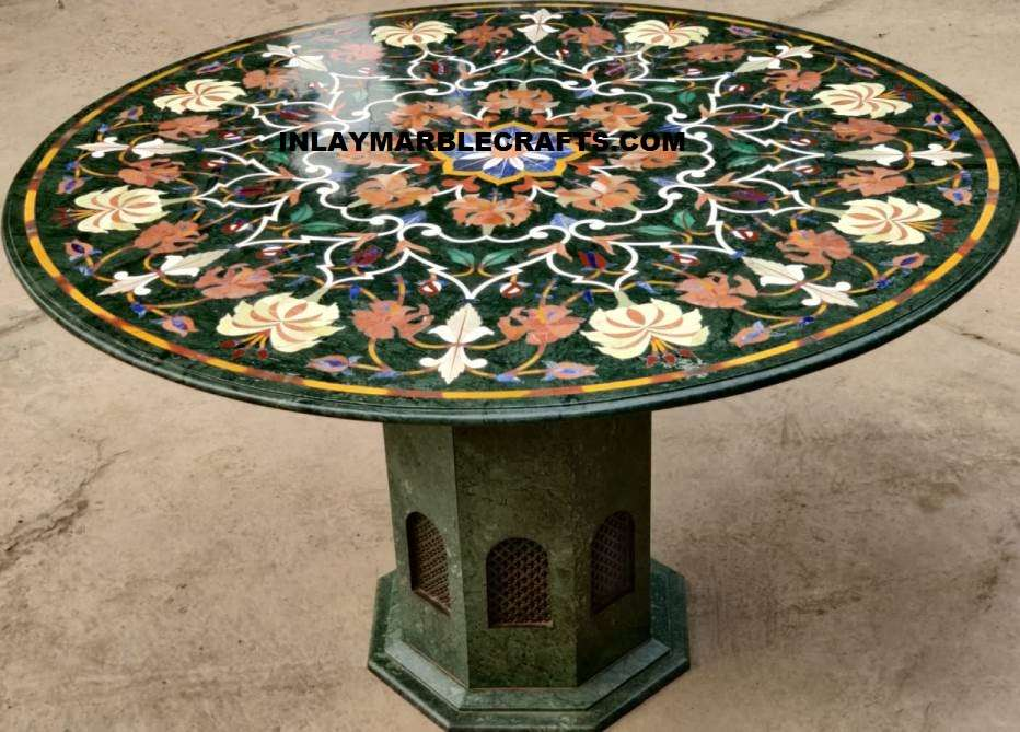Green Marble Inlay Tabletop