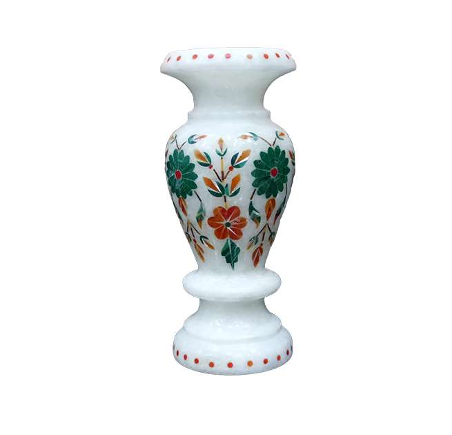 Marble Inlay Decorative Multicolour Vase