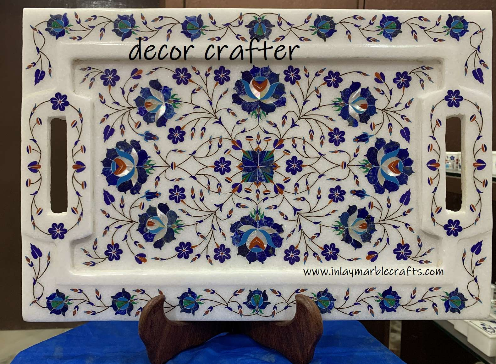 White Marble Tray With Handle Online Shopping All Over The World